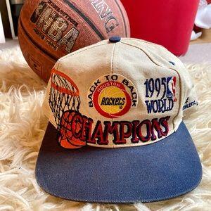 Vintage Houston Rockets 1995 Championship Hat